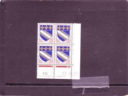 N° 1353 - 0,10F Blason De TROYES - B De A+B - 1° Tirage Du 2.11.62 Au 8.2.63 - 12.11.1962 - - 1960-1969