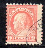 R456 - STATI UNITI 1916 , Yvert N. 207B Usato . Dent 10 Senza Filigrana - Used Stamps