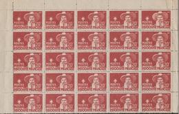 INDOCHINE  1944  PAVIE  Half Sheet Of 25 Stamps   Réf  Sh 5 - Unused Stamps