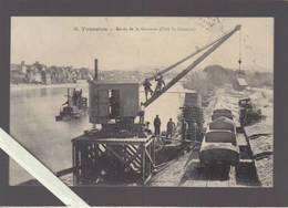 Lot Et Garonne - Tonneins - Grue Déchargeant Du Sable Dans Un Train, Drague Arriere Plan, Coté St-Germain - Tonneins