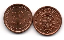 S. Tome E Principe - 20 Centavos 1971 XF Lemberg-Zp - Sao Tome Et Principe