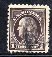 R504 - STATI UNITI 1916 , Yvert N. 216B Usato . Dent 10 Senza Filigrana - United States