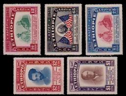 (066) Ethiopia / Ethiopie / 1947 / Roosevelt  ** / Mnh  Michel 230-234 - Ethiopie