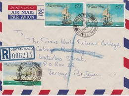MAURITIUS 1976 LETTRE RECOMMANDEE DE CENTRAL FLACQ - Mauritius (1968-...)