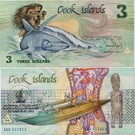 COOK IS.       3 Dollars       Comm.       P-6       1992       UNC - Cookeilanden