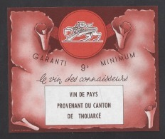 Etiquette De Vin De Pays Provenant Du Canton De Thouarcé  (49) - Non Classificati