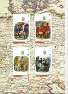 GERMANY  Telefonkarten  E 17-20 Postillione Im Folder -voll - E-Series: Editionsausgabe Der Dt. Postreklame