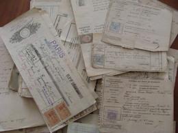 LOT 175 DOCUMENTS AVEC TIMBRE FISCAL DIMENSION .... VOIR PHOTOS DU LOT  EMPIRE AUX ANNEES 1930 - Fiscaux