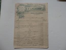 Facture De L'épicerie P. Laurent à Mesnil-Follemprise (76). - 1900 – 1949