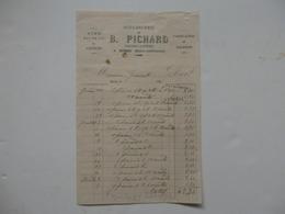 Facture De La Boulangerie De B. Pichard épicier-cafetier à Bures-en-Bray (76). - 1800 – 1899