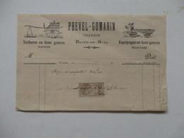 Facture De Prevel-Gomarin Charron à Bures-en-Bray (76). - France