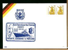 DEUTSCHE - MARINE BASIC OPERATIONAL SEA TRAINING - BOST - FREGATTE AUGSBURG - PARO - PHARE - [7] Federal Republic
