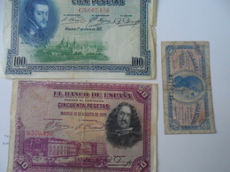 Espagne, LOT 3 BILLETS - [ 2] 1931-1936 : Republic