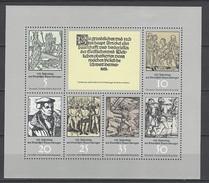 DDR Kleinbogen Mi-Nr. 2013 - 2018 - 450. Jahrestag Deutscher Bauernkrieg - Postfrisch - DDR