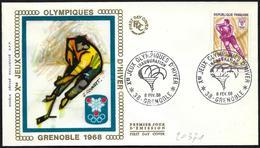 Francia/France: FDC, Inaugurazione, Inauguration, Opening - Inverno1968: Grenoble