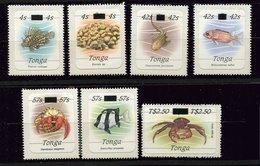 Tonga ** Timbres De Service N° 70 à 76 - Crustacés - Poissons Etc... - Tonga (1970-...)