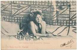 FIDJI, FIJI - Girl Looking From Screen-Fiji - Fidji