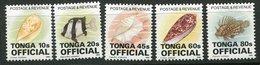 Tonga ** Timbres De Service N° 76A à 76E - Coquillages - Tonga (1970-...)