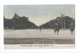 19554 - Buenos Aires Avenida Sarmiento + Cachet Fedele Ramelli - Argentine