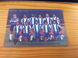 """Portuguese Postcard ,""""Futebol Clube Do Porto, Campeão Europeu De Clubes 1987 - Calcio"""