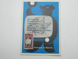 1961 , Maximumkarte - Berlin (West)