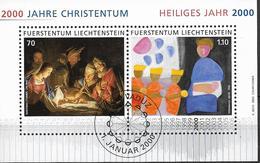 2000  Liechtenstein   Mi. Bl 17 Used  : 2000 Jahre Christentum, Heiliges Jahr 2000. - Liechtenstein
