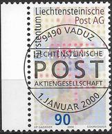 2000  Liechtenstein   Mi. 1226 Used   Gründung Der Liechtensteinischen Post AG. - Liechtenstein