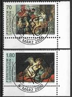 """2000  Liechtenstein   Mi. 1227-8 Used   . Kunstausstellung """"Götter Wandelten Einst ..."""", Vaduz - Liechtenstein"""