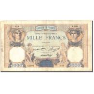 France, 1000 Francs, 1 000 F 1927-1940 ''Cérès Et Mercure'', 1936, 1936-09-17 - 1871-1952 Circulated During XXth