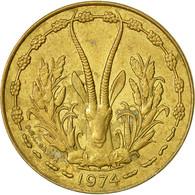 Monnaie, West African States, 10 Francs, 1974, TTB+, Aluminum-Nickel-Bronze - Ivory Coast