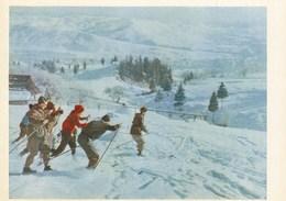 Ukraine - Transcarpathian Region - Tourists Skiing - Ucraina
