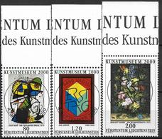 2000  Liechtenstein   Mi. 1245-7 Used   Eröffnung Des Kunstmuseums, Vaduz: Gemälde - Liechtenstein