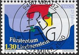 2000  Liechtenstein   Mi. 1248 Used  25 Jahre Organisation Für Sicherheit Und Zusammenarbeit In Europa (OSZE). - Liechtenstein