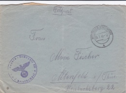 Feldpost WW2: 1. Ersatz Schützen Kompanie 471 P/m  Butzbach (Ober Hessen) 25.7.1942 - Letter Inside  (SKO15-31) - Militaria