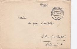 Feldpost WW2: 1. Schützen Ersatz Kompanie From Ersatz Bataillon 479 In Landsberg/Warthe P/m Landsberg (Warthe) 19.11.193 - Guerre Mondiale (Seconde)