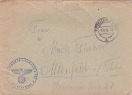 Feldpost WW2: 1. Ersatz Schützen Kompanie 471 P/m  Butzbach (Ober Hessen) 7.10.1942 - Letter Inside  (SKO15-31) - WW2