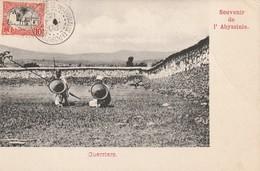Souvenir De L'Abyssinie - Guerriers - Oblitéré En 1908 - Somalia