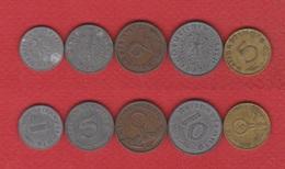 Allemagne  / Lot De  5 Monnaies 3 ème Reich - [ 4] 1933-1945 : Third Reich