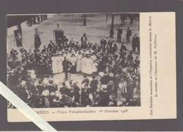 Lot Et Garonne - Mezin - Sociétes Musicales Et L'Orphéon Devant La Mairie Jouent Devant Fallieres - Oct 1906 - Other Municipalities
