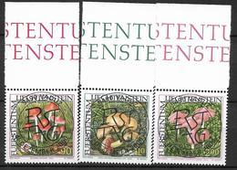 2000  Liechtenstein   Mi. 1252-4 Used  Seltene Pilze - Liechtenstein
