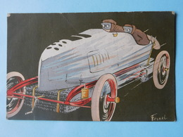 Automobile De Course Vers 1900 Illustration Fernel - Sport Automobile