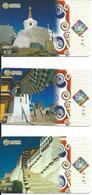 3 Télécartes Chine Paysage Ville  (D 405) - Paysages