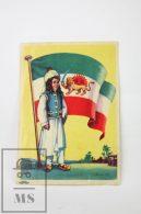 1950´s Trading Card/ Chromo / Sticker  - Iran - Flag & Infant In Traditional Costume - Otros