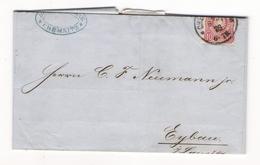 Timbre 10 Pfennig Rose  ALLEMAGNE  /  Lettre De BÜRGER & KÜHNE , à CHEMNITZ , Envoi à EYBAU Du 8 Juillet 1876 - Allemagne