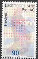 2000  Liechtenstein   Mi. 1226 **MNH   Gründung Der Liechtensteinischen Post AG. - Unused Stamps