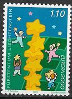 2000  Liechtenstein   Mi. 1234 **MNH Europa : Kinder Bauen Sternenturm - Unused Stamps