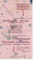Buvard / Imprimerie Causeret 70 LUXEUIL / Distribué Par Laiterie CLAIR 70 CUVE Voir Verso - Blotters