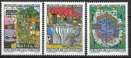 2000  Liechtenstein   Mi. 1235-7 **MNH Weltausstellung EXPO 2000, Hannover: Umwelt Und Entwicklung - Unused Stamps