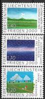 2000  Liechtenstein   Mi. 1238-40 **MNH  . Frieden 2000 - Unused Stamps