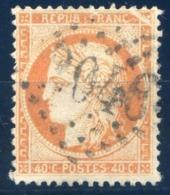 France - N°38h - (case 8) Coin Superieur Droit Fendu - Cote +100€ - (F168) - 1870 Besetzung Von Paris